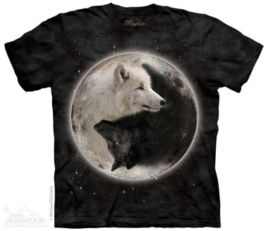 The Mountain Yin Yang Wolves rövid ujjú póló