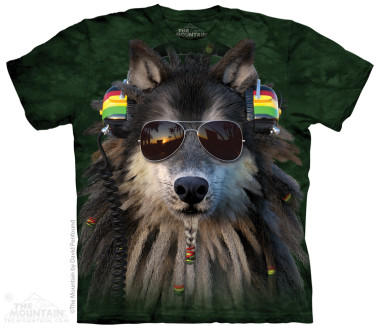 The Mountain Rasta Wolf rövid ujjú póló